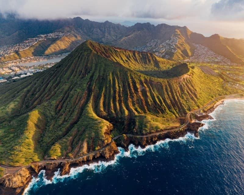 Sunrise at the Koko crater on O'ahu, Hawai'i
