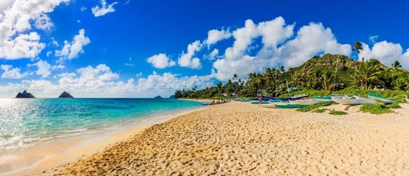 Lanikai beach, Nā Mokulua, the Mokes