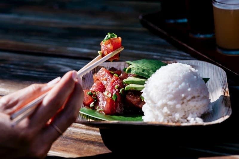A bowl with Ahi Poke