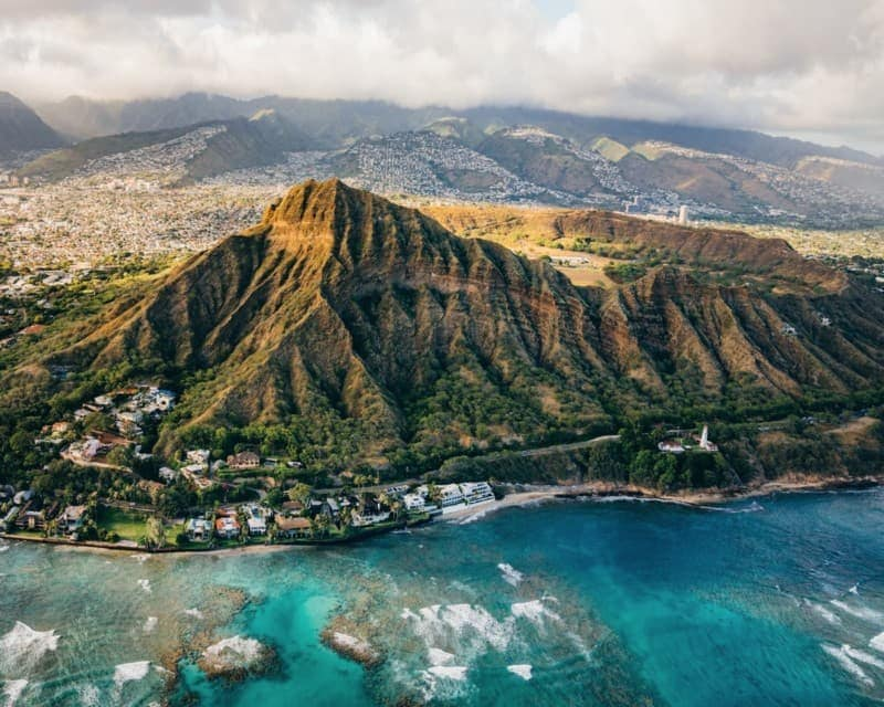 Diamond Head in the afternoon sun