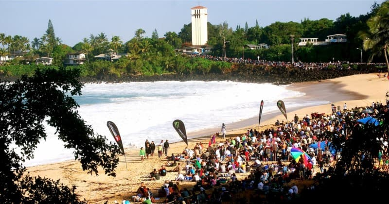 Eddie Aikau competition in 2009, Waimea Bay