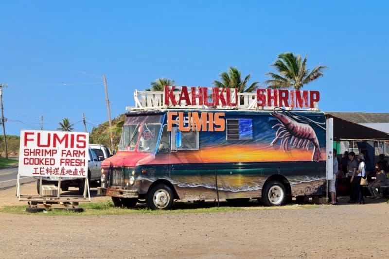 fumis shrimp truck on O'ahu