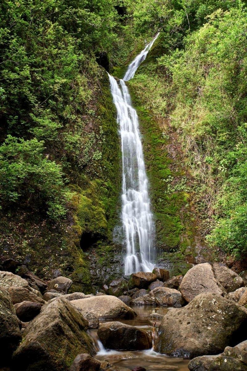 The 50-ft tall Lulumahu Falls
