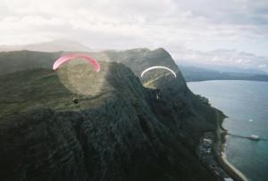 Paragliders around Makapu'u Point