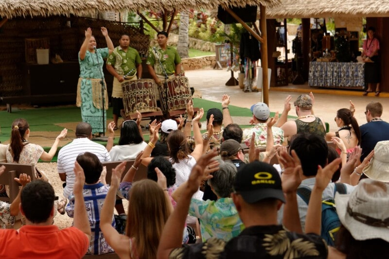 The Tonga drum show in the Polynesian Cultural Center