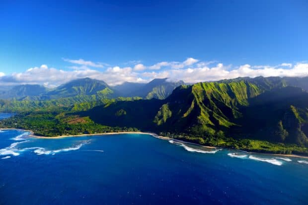 Napali coast from Helicopter
