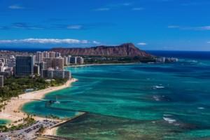 Waikiki skyline with Leahi in the background